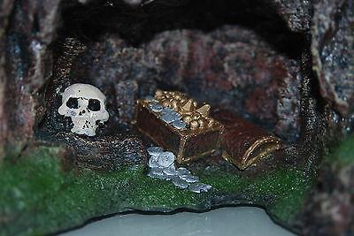 Aquarium Rock Cave with Skull & Treasure 22.5 x 17.5 x 17cms Aquarium Ornament 6