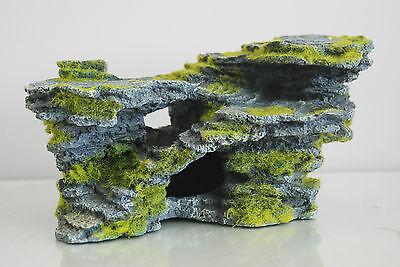Aquarium Large Detailed Rock & Moss Decoration 30x18x15 cms For All Aquariums 4