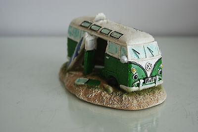 Aquarium VW Camper Van Bright Green Decoration 15.5 x 9.5 x 8 cms 6