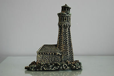 Aquarium Old Stone Effect Lighthouse 18 x 11 x 20 cms Ship Sea Boats Harbour 3