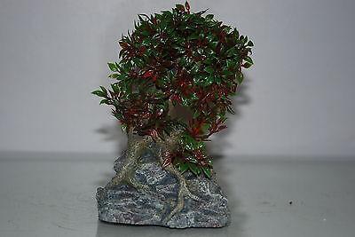 Aquarium Tree with a Rock Base 17 x 10 x 16 cms Suitable For All Aquariums 4
