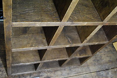 Pigeon holes industrial rustic bookcase 3 reclaimed wood factory school gplanera 7