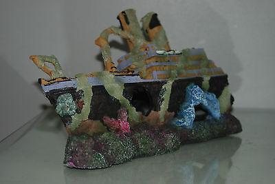 Aquarium Large Rustic Sucken Titanic Liner in Two Parts  55 x 14 x 22 cms 8