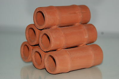 Aquarium Ceramic Breeder Tubes Medium 7.5 x 8 x 7.5 cms For Loaches & Small Fish 3