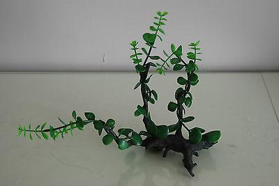 Aquarium Realistic Plastic Plant Attached to Wooden Log 27 x 9 x 23 cms 7