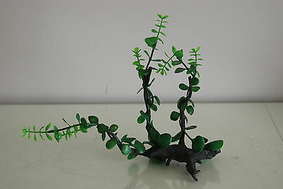 Aquarium Realistic Plastic Plant Attached to Wooden Log 27 x 9 x 23 cms 3