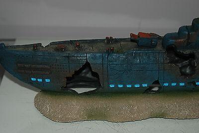 Aquarium Large Stunning Sunken Submarine On Rocks Ornament Size 43 x 9 x 14 cms 7