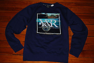 NEW Men/'s Young and Reckless Y/&R Red Nocturnal Sweatshirt Large, XL