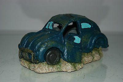 VW Beetle Small Old Rustic Style Car Decoration 18 x 10 x 9 For All Aquariums 3