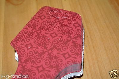 LOT 50 Fold Over Self Adhesive RED EXOTIC BRICK Necklace Headbands MERCHANDISE