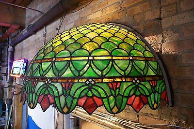 Turn of the Century Stained Glass Canopy for Back Bar R. Williamson Mfg. Chicago 2