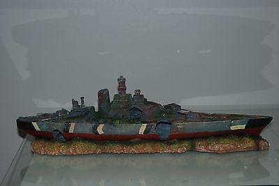 Aquarium Large Battle Ship Destroyer & Rock Base For Aquariums 50 x 9 x 15 cms 9