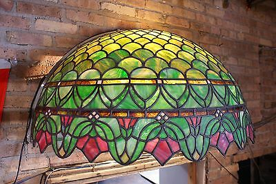 Turn of the Century Stained Glass Canopy for Back Bar R. Williamson Mfg. Chicago 7
