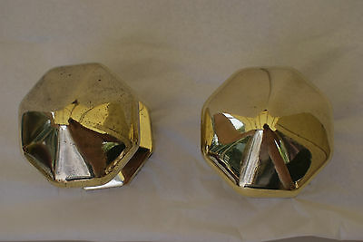 Vintage Solid Brass Door Pulls  Large Impressive Large Pics Free P&p 3