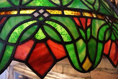Turn of the Century Stained Glass Canopy for Back Bar R. Williamson Mfg. Chicago 4