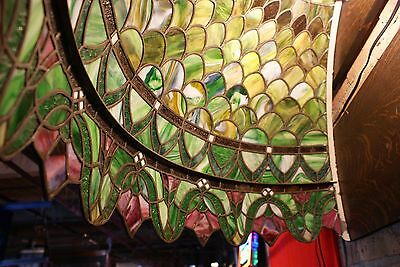 Turn of the Century Stained Glass Canopy for Back Bar R. Williamson Mfg. Chicago 5