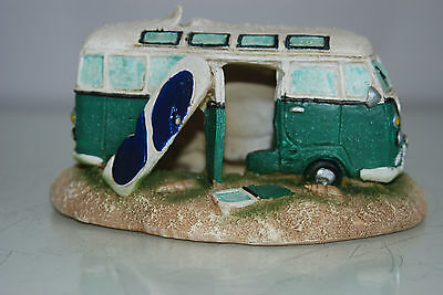 Aquarium VW Camper Van Pale Green Decoration 15.5 x 9.5 x 8 cms 2