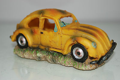 VW Yellow Beetle Small Old Rustic Car Decoration 14.5 x 6x6.5 For All Aquariums 7