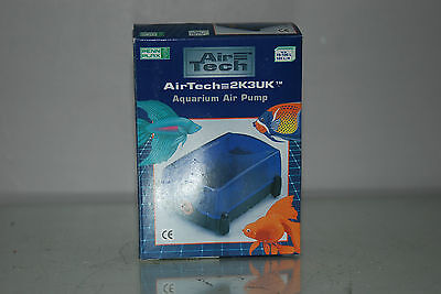 Air Tech Aquarium Air Pump Single Outlet 90 ltrs Per Hour Bargain Price