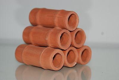 Aquarium Ceramic Breeder Tubes Medium 7.5 x 8 x 7.5 cms For Loaches & Small Fish 4