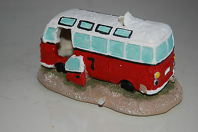Aquarium Old VW Camper Van Red Decoration 15.5 x 9.5 x 8 cms 5