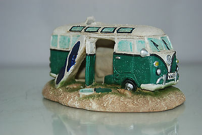 Aquarium VW Camper Van Pale Green Decoration 15.5 x 9.5 x 8 cms 5