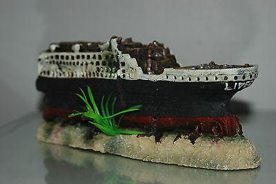 Stunning Aquarium Detailed Large Titanic 59 x 9.5 x 15 cms For All Aquariums 8 • EUR 54,70
