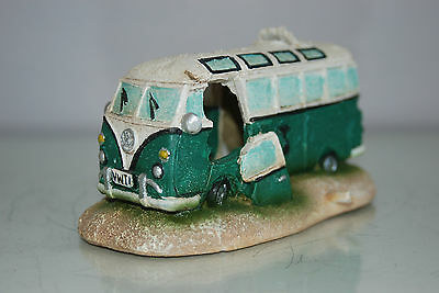 Aquarium VW Camper Van Pale Green Decoration 15.5 x 9.5 x 8 cms 4