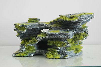 Aquarium Large Detailed Rock & Moss Decoration 30x18x15 cms For All Aquariums 2