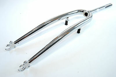 "Road Bike Rigid Steel 700c Bicycle Fork w// Cantilever Bosses 1/"" Threaded"