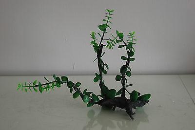 Aquarium Realistic Plastic Plant Attached to Wooden Log 27 x 9 x 23 cms 5