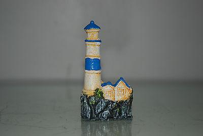 Aquarium 4 x Lighthouse Set Approx size 5 x 3 x 9 cms Boat Harbour Sea House 4