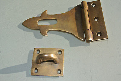 small box catch hasp latch old style BOX antiques DOOR heavy  staple 12cm B 6