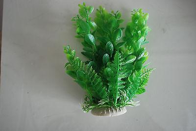 Aquarium 2 x Green Plastic Plants Approx 16cm High Suitable for All Aquariums 6