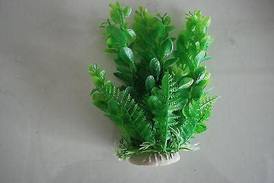 Aquarium 2 x Green Plastic Plants Approx 16cm High Suitable for All Aquariums 4