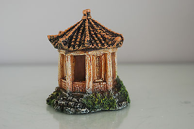 Aquarium Detailed Asian Temple 8  x 7 x 9 cms Rusty Suitable For All Aquariums 5