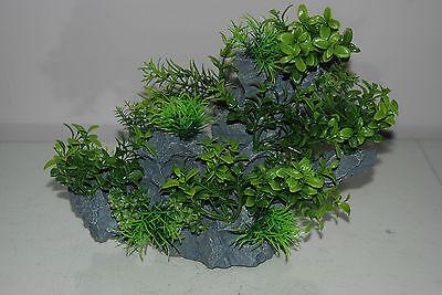 Aquarium Large Detailed Rock with Various Plants Decoration 29 x 10 x 25 cms 9