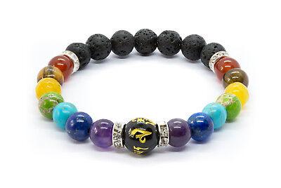 7 Chakra Bracelet. Crystal Stones. Healing Beads Jewellery. Mala Reiki anxiety 7