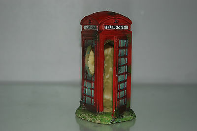 Aquarium Small Old London Telephone Box 8 x 7 x14 cms Suitable For All Aquariums 2