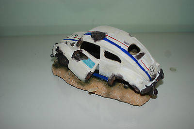 Aquarium VW Herbie car Decoration & Bubble Exhaust Size 15 x 10 x 7 cms 5