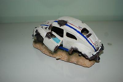 Aquarium VW Herbie car Decoration & Bubble Exhaust Size 15 x 10 x 7 cms 5
