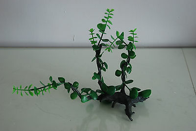Aquarium Realistic Plastic Plant Attached to Wooden Log 27 x 9 x 23 cms 8