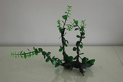 Aquarium Realistic Plastic Plant Attached to Wooden Log 27 x 9 x 23 cms 4