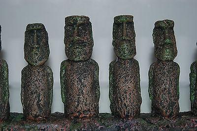 Aquarium & Vivarium Large Line Of Easter Island Heads Decoration 31 x 7 x 14cms 3