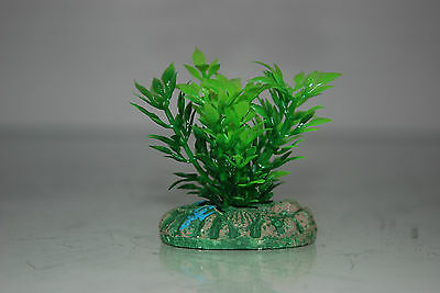 Aquarium Small Nano Plants x 2 Green & Green / Red approx 4 cms 2