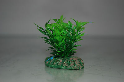 Aquarium Small Nano Plants x 2 Green & Green / Red approx 4 cms 3
