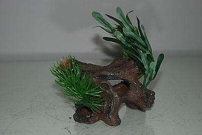 Aquarium Driftwood with Plants Decoration 12 x 16 x 12 cms last one 2