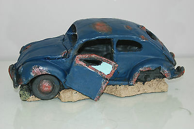 VW Beetle Large Old Rustic Style Car Decoration 33 x 16 x 13 For All Aquariums 4