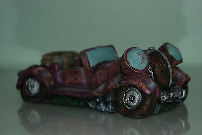 Aquarium Old Vintage Car Decoration With Bubble Exhaust 22 x 10 x 8 cms 4