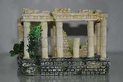 Stunning Aquarium Roman Square & Columns Decoration 17.5 x 14 x 13 cms 4